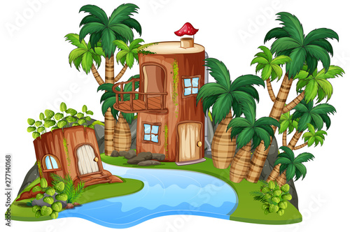 Poster Jeunes enfants An isolated fantasy house