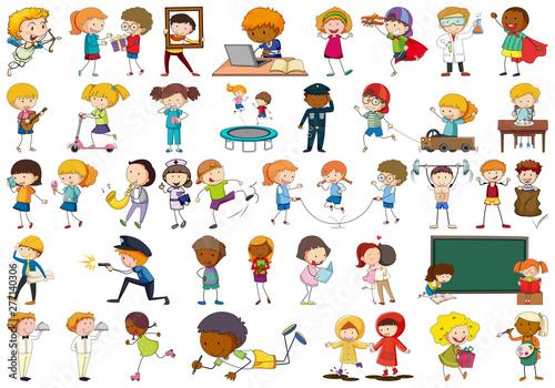 Poster Jeunes enfants Large set of simple characters