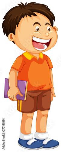 Poster Jeunes enfants A cute boy charatcer