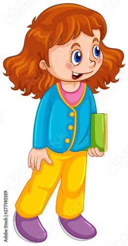 Poster Jeunes enfants A cute girl character
