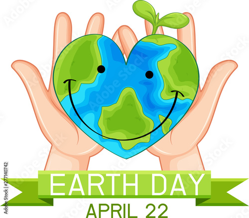 Poster Jeunes enfants Earth day poster concept