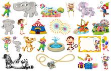 Set Of Animal And Circus