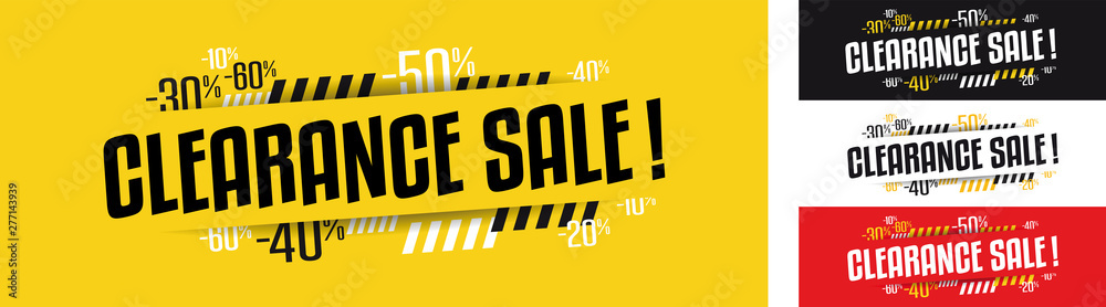 Fototapeta Clearance sale banner in four variations