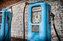 Old Gas Pump On Station