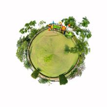 360 Panorama Of Playground  On...
