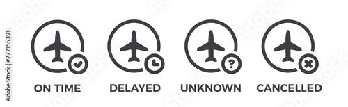 Cuadros en Lienzo  Flight status icons