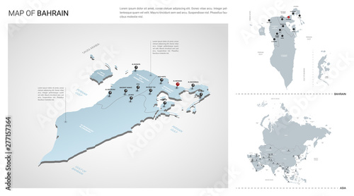 Photo Vector set of Bahrain country