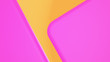canvas print picture - Abstract Round Shape 3D render Background pink geometric on yellow gradient