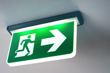 Emergency Door Escape Light Sign