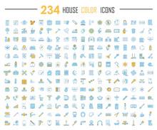 House Color Icons Big Set. Hou...