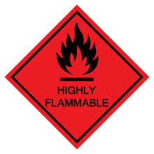 Highly Flammable Symbol Sign I...