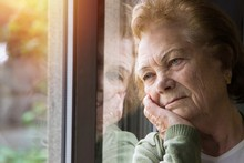 Portrait Of Senior Woman Looki...