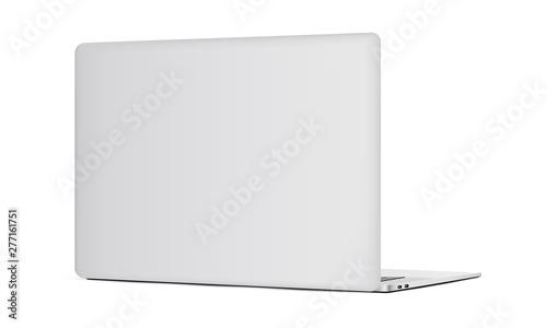Photo Laptop backside mockup isolated on white background