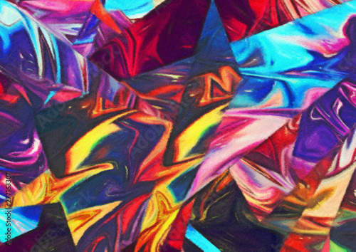 Fotoposter Paradijsvogel bloem Abstract art background. Soft brushstrokes of paint. Good for printed pictures, postcards, posters or wallpapers and textile printing. Contemporary art. Hand drawn artistic pattern for graphic design.