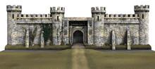 3D Rendered Castle On White Ba...