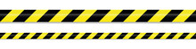 Warning Tape Yellow Black On W...
