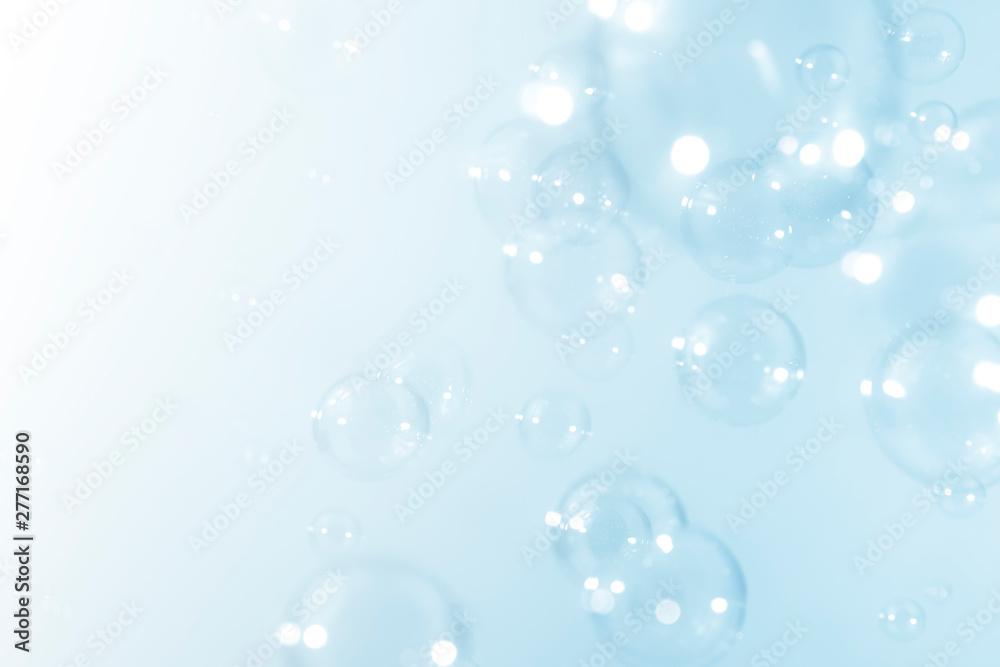 Fototapety, obrazy: blue soap bubbles background.