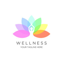 Yoga Logo Vector Emblem