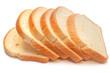 Leinwandbild Motiv A loaf of fresh bread isolated on white background