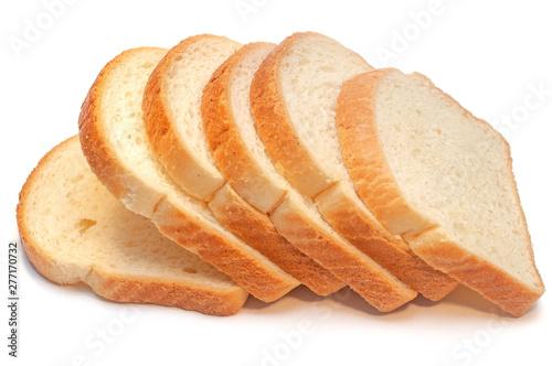 Valokuvatapetti A loaf of fresh bread isolated on white background