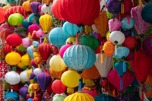 Photo  Colorful hand crafted paper lantern on Hang Ma street, Hanoi, Vietnam
