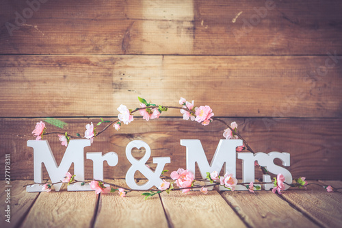 Poster Fleur wedding themes background