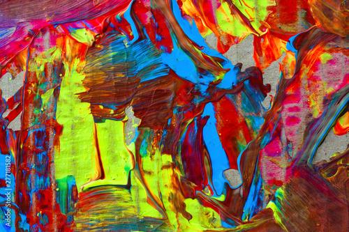 Foto op Plexiglas Paradijsvogel Abstract illustration background, paint strokes, veins