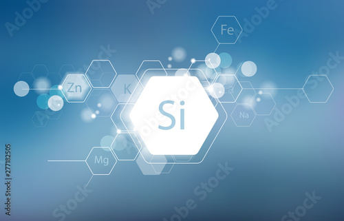 Foto Silicon. Minerals for human health.