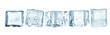 Leinwandbild Motiv Cold ice cubes on white space