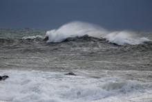 Stormy Sea Wave With Spray
