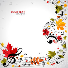 Autumn Musical Background With...