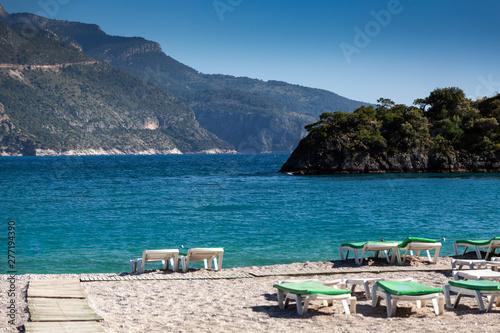 Printed kitchen splashbacks Turkey Lagoon in sea landscape view of beach