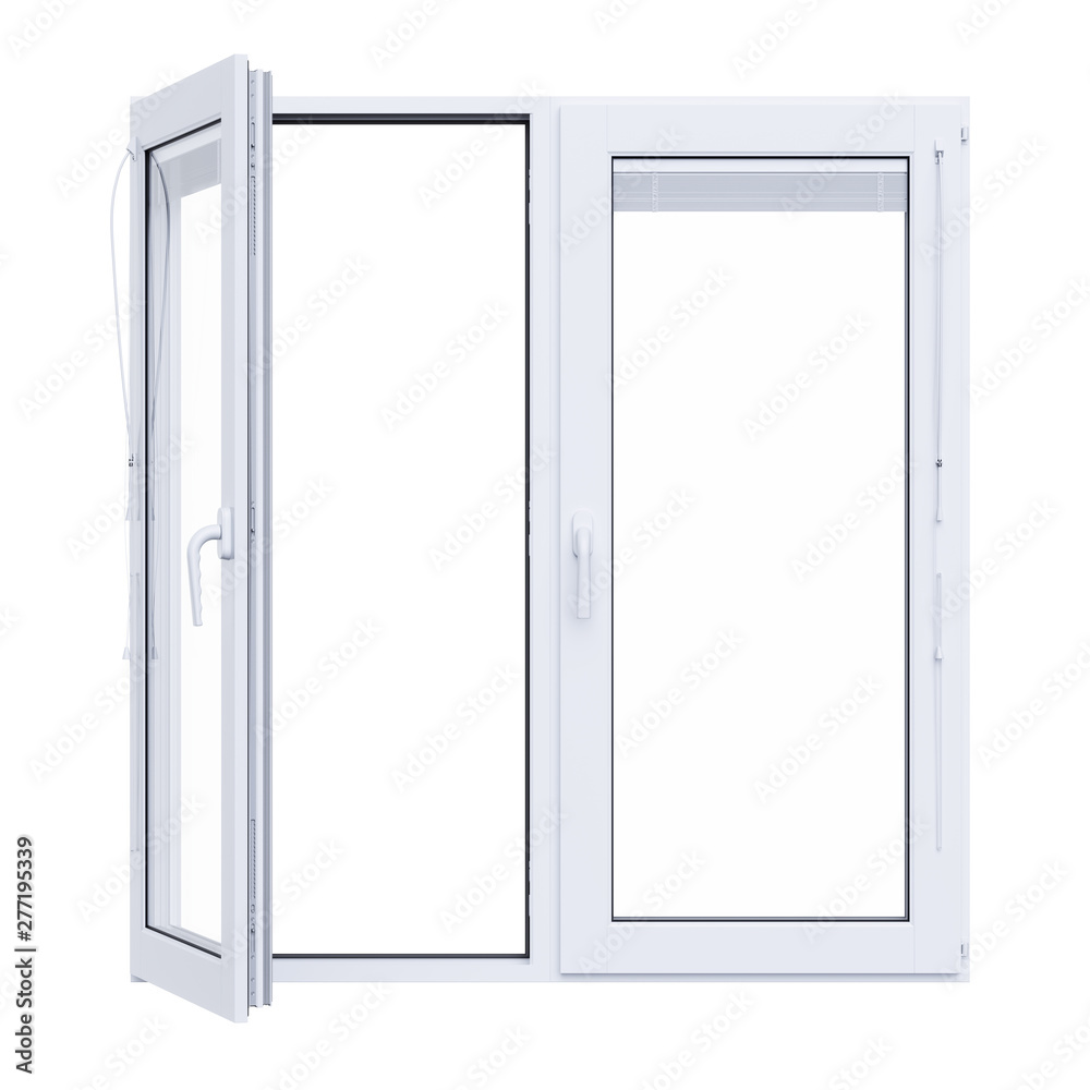 Fototapety, obrazy: White plastic window isolated