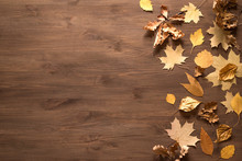 Yellow Leaves Flat Lay