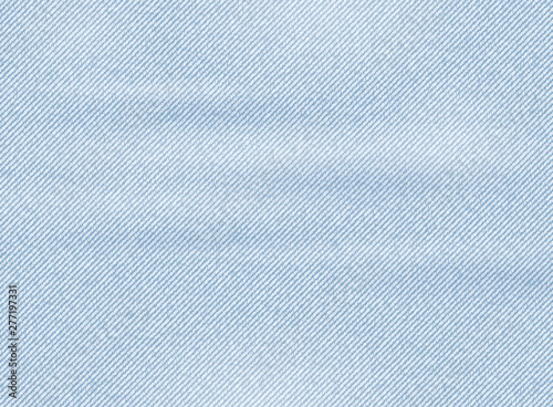 Light blue denim texture. Vector background Fototapet
