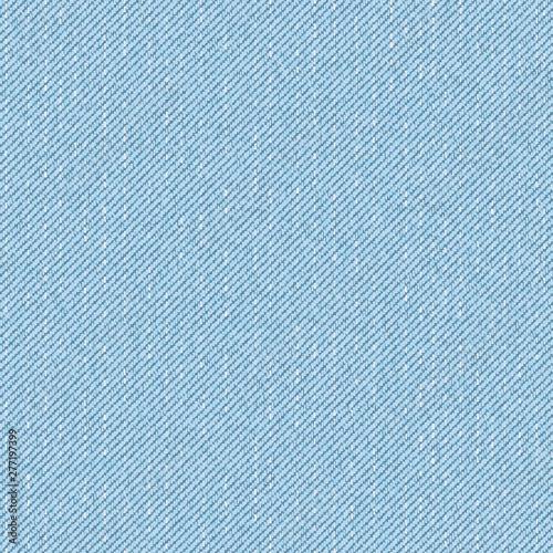 Tablou Canvas Light blue denim seamless pattern. Vector background