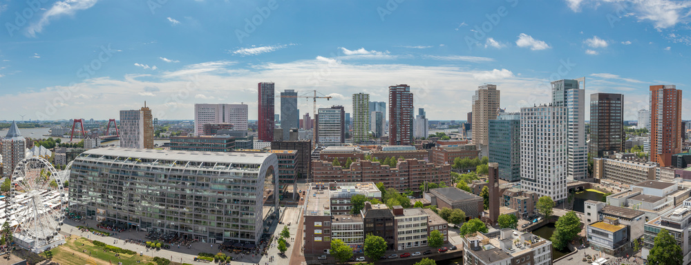 Fototapety, obrazy: Panoramic cityscape of the city of Rotterdam on a sunny day