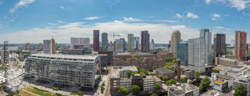 Recess Fitting Rotterdam Panoramic cityscape of the city of Rotterdam on a sunny day