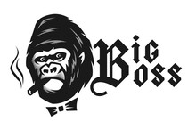 Big Boss. Angry Gorilla With A...