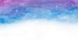 Leinwandbild Motiv Watercolor colorful  space galaxy