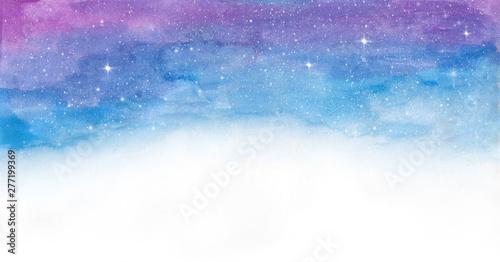 Watercolor colorful  space galaxy - 277199369