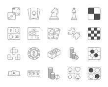 Line Design Icon Set Of Puzzle...
