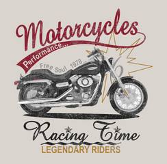 motorcycle graphic print, p...