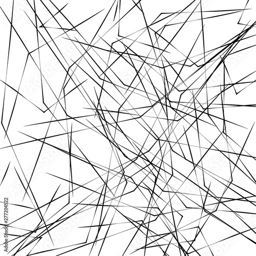 Chaotic Lines, Random Chaotic Lines, Scattered Lines, Random Chaotic Lines Asymm Wallpaper Mural