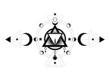 Masonic Symbol. The Sacred Vag...