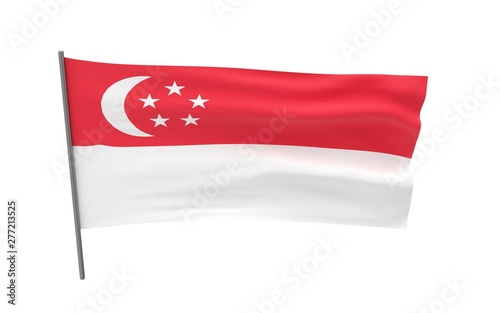 Flag of Singapore Canvas Print