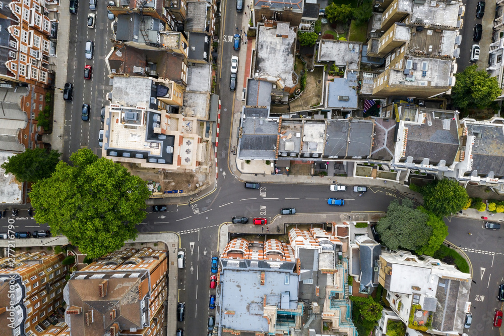 Fototapety, obrazy: Aerial view of the city of London, United Kingdom.