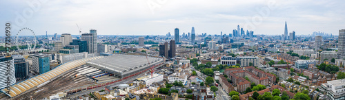 Aerial view of the Waterloo station in London, UK. Canvas-taulu