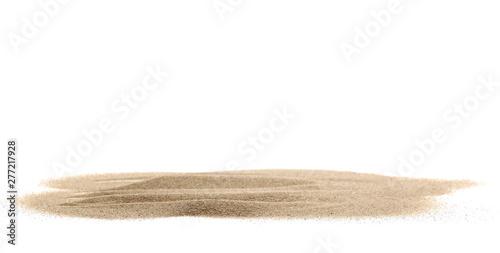 Fotografie, Tablou Pile desert sand dune isolated on white background
