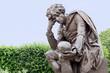 Leinwanddruck Bild - Statue of Hamlet